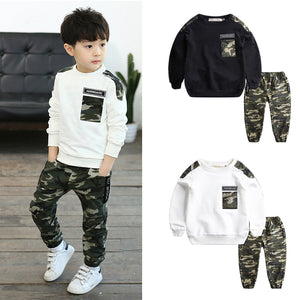 IENENS 2PC Kids Baby Boys Military Clothes Clothing Sets Young Boy Tops + Trousers Outfits Suits Children Camouflage Tracksuits - Star Kidz Clothing