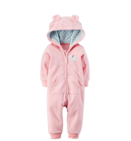 2019 Autumn Winter Warm Baby Rompers Baby boys clothes Coral Fleece baby girls costume Animal Overall baby clothing jumpsuits - Star Kidz Clothing