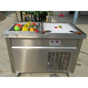 IC800S Single Square Pan Roll Thai Fried Ice Cream Machine with 6 Compartments - Your Everything Supplier