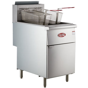 Food Equipment Natural Gas 70-100 lb. Stainless Steel Tube Floor Fryer