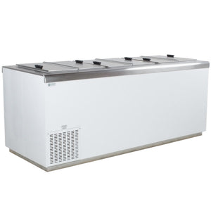 "Food Equipment 81"" Flip Lid Ice Cream Dipping Cabinet"