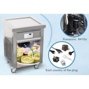 IC600S Single Square Pan Roll Thai Fried Ice Cream Machine - Your Everything Supplier