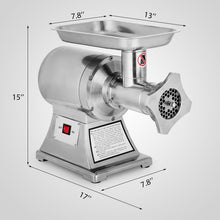 Load image into Gallery viewer, Commercial Kitchen 1.5HP Meat Grinder Stainless Steel 220 RPM Electric Commercial Sausage Stuffer