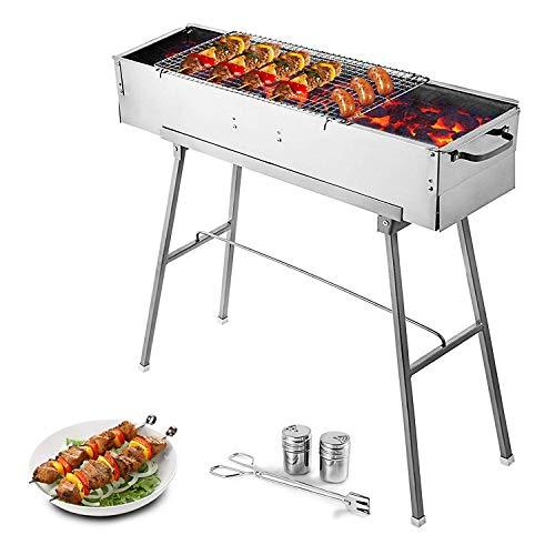 Food Equipment Party Grille 32 Stainless Steel Charcoal Grill BBQ Grill Camp Grill Portable
