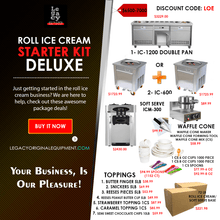Load image into Gallery viewer, Food Equipment Roll Ice Cream Business Starter Kit Standard/Deluxe