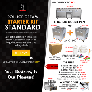 Food Equipment Roll Ice Cream Business Starter Kit Standard/Deluxe