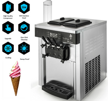 Load image into Gallery viewer, Soft Serve ICM-2200 Ice Cream Machine 20/28 L Hr 6 Gal X 2 Tanks