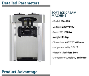 Soft Serve ICM-300 Commercial Soft Serve Ice Cream Machine 16-32 Ltr Hr - Your Everything Supplier