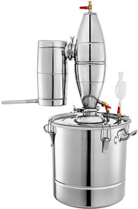 Beverage Equipment 30 L Alcohol/Essential Oil Distiller Brewing Kit Home Still Stainless Steel Boiler