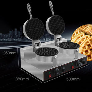 Ice Cream Cone Double Waffle Cone Maker Non-Stick - Your Everything Supplier