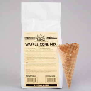 Waffle Cone Mix 5 lb. Bag - 6/Case - Your Everything Supplier