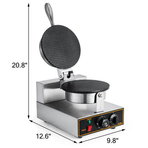 Food Equipment Commercial 110v Electric Nonstick Ice Cream Waffle Cone Baker Maker Machine
