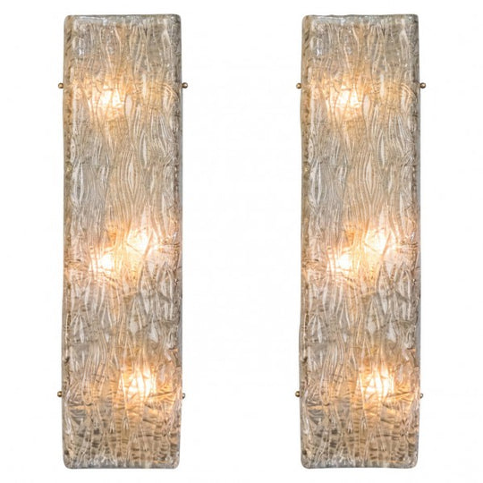 Murano Textured Glass Wall Sconces