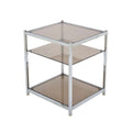 French Vintage Chrome Side Table