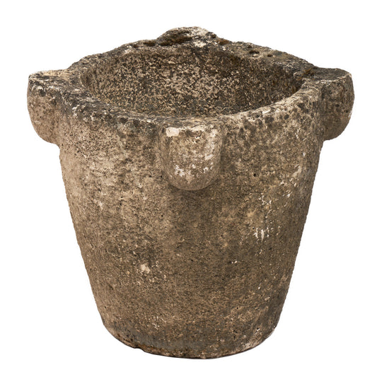 French Stone Mortar Jardiniere