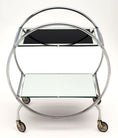 Mid-Century Chrome and Glass Bar Cart