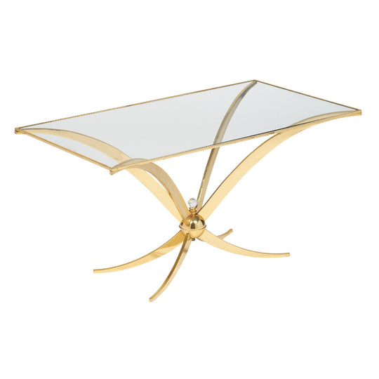Vintage Mid-Century Modern Brass Coffee Table