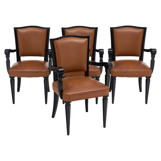 Art Deco Period French Bridge Chairs
