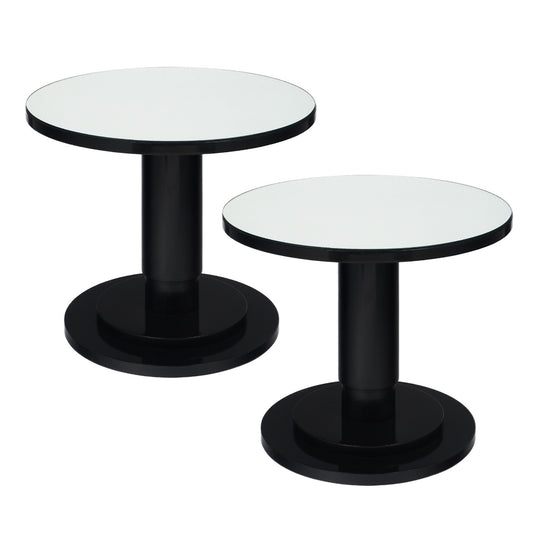 Pair of French Modernist Ebonized Bistro Tables