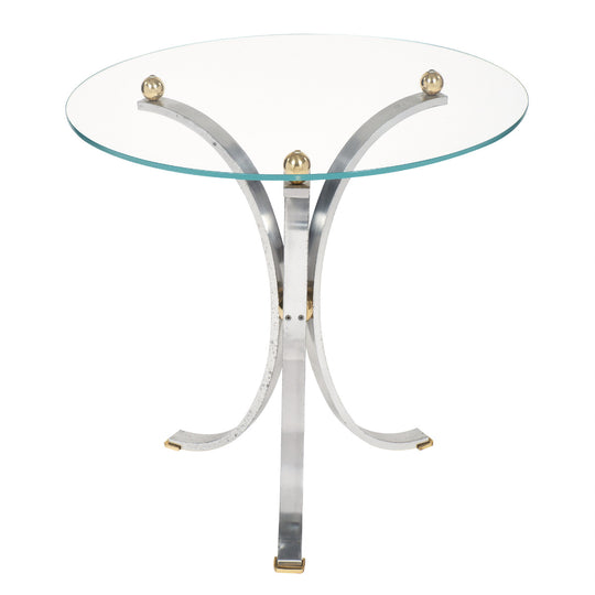 Modernist Chrome Side Table