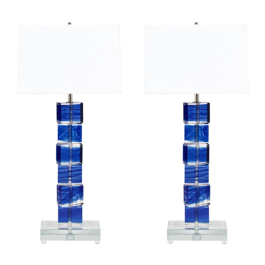 Murano Glass Cobalt Blue Lamps