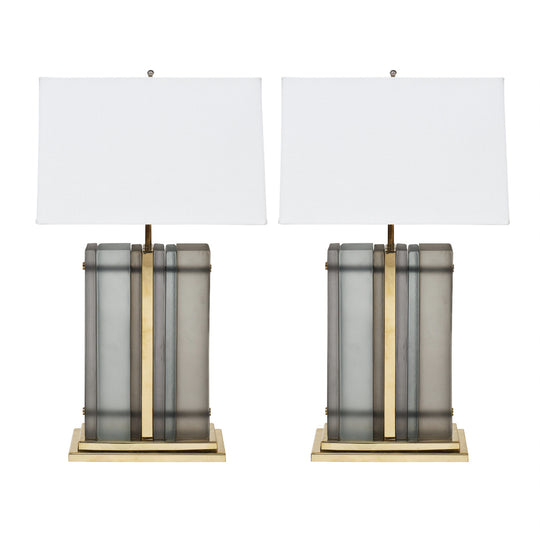 Murano Glass Slab Lamps