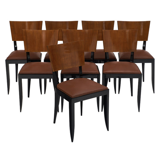Set of Eight Art Deco Period Dining Chairs