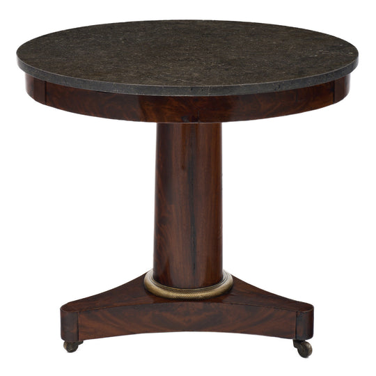 Empire Style Flamed Mahogany Gueridon