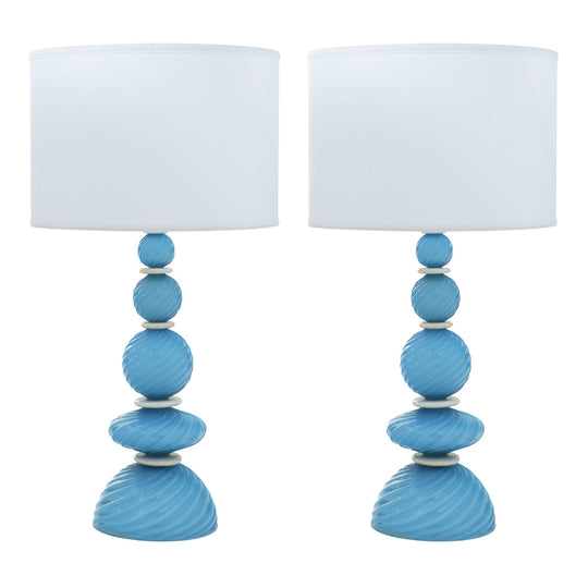 Murano Glass Turquoise Lamps
