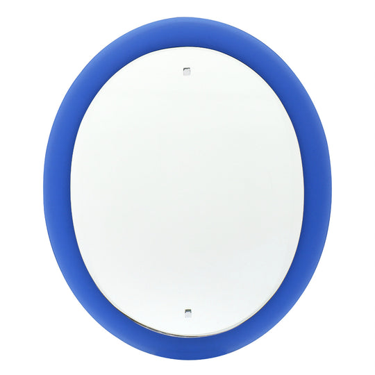 Vintage Cobalt Blue Glass Mirror