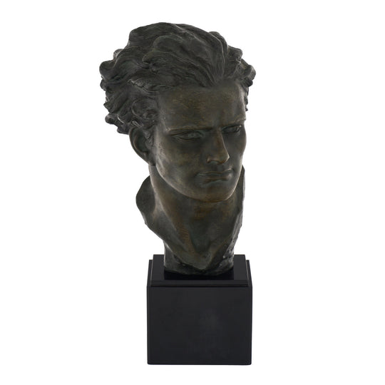 Art Deco Spelter Bust of Jean-Mermoz