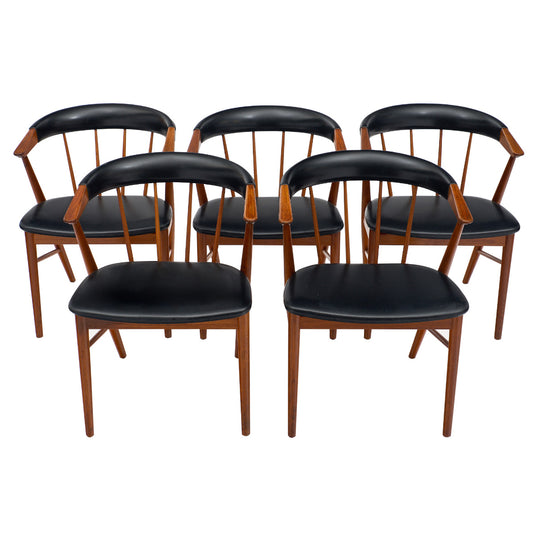 Set of Five Danish Sibast No. 8 Chairs