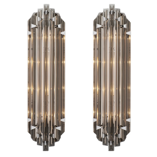 Italian Murano Glass Smoked Venini Sconces