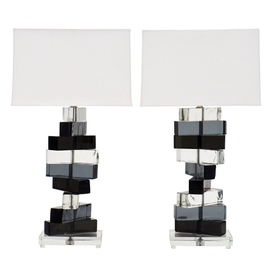 Cubist Murano Glass Lamps