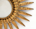 French Embossed Tole Sunburst Wall Light