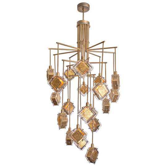 Murano Glass Gold and Bronze Chandelier