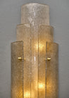 "Large Murano ""Graniglia"" Glass Sconces"