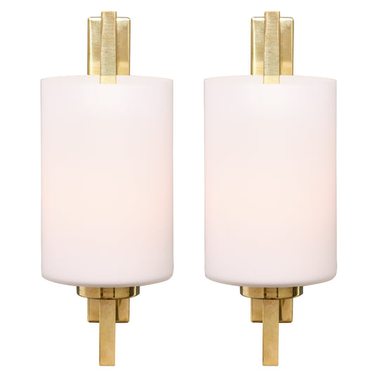 Murano Glass Cylindrical Sconces