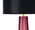 Dark Amethyst Murano Glass Lamps