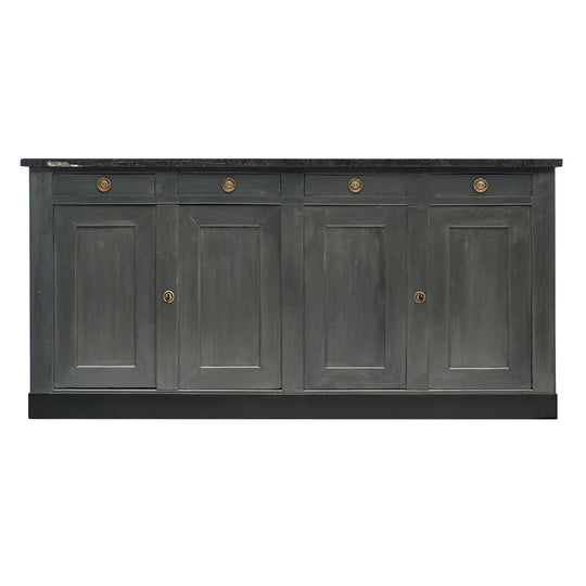 French Provincial Painted Gray Buffet