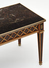 French Louis XVI Style Marble Topped Coffee Table