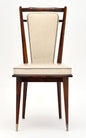 French Modernist Vinyl Dining Chairs