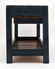 Italian Blue Painted Antique Work Table