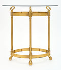 Art Deco Period Brass Swan Side Table