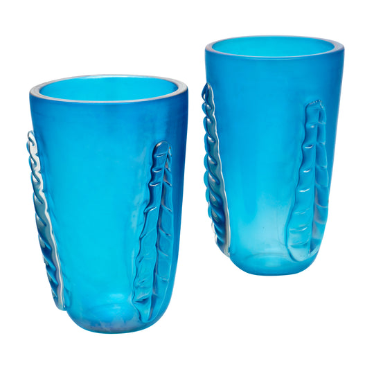 "Blue Murano Glass ""Veronese"" Vases by Costantino"