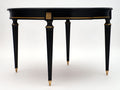 Antique Ebonized Dining Table with Leaves
