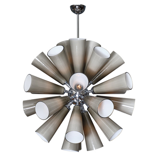 Murano Glass Gray Sputnik Chandelier