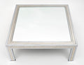 Chrome and Mirror Vintage French Coffee Table