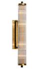 Brass and Murano Glass Rod Sconces