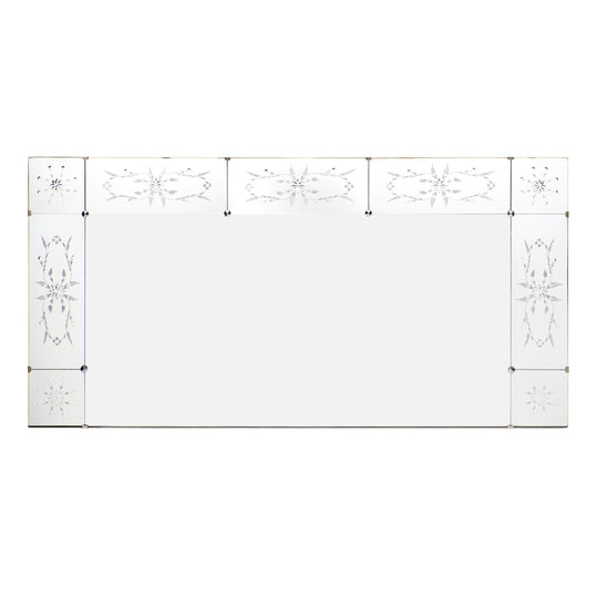 Art Deco Period Etched Mirror